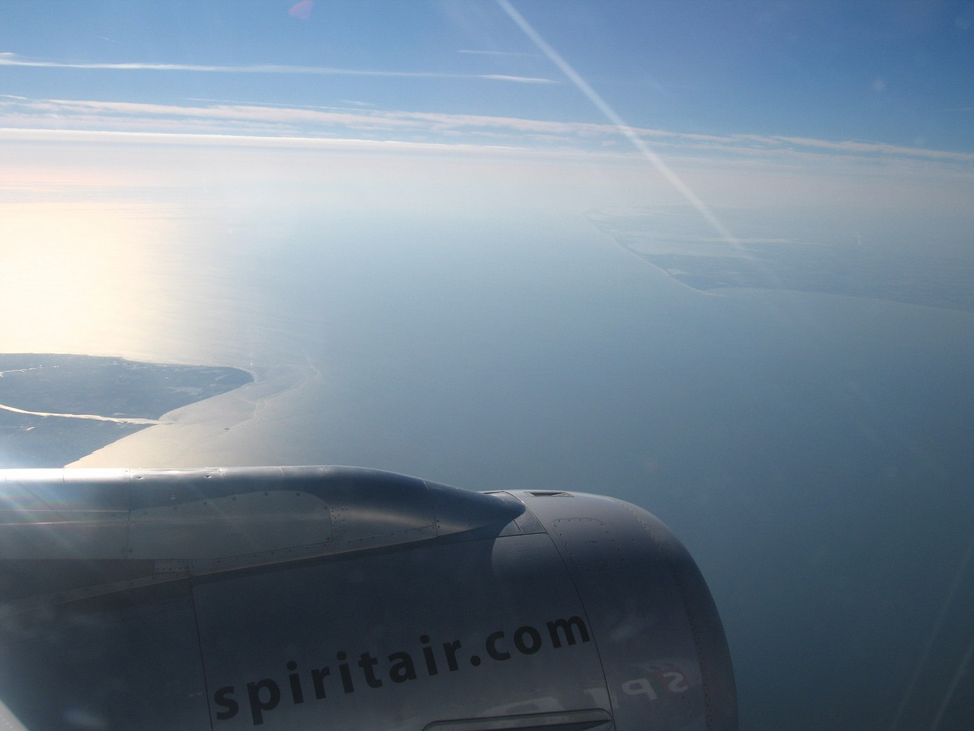 This view is leaving Cape May, New Jersey and flying towards Lewes, Deleware on the right...