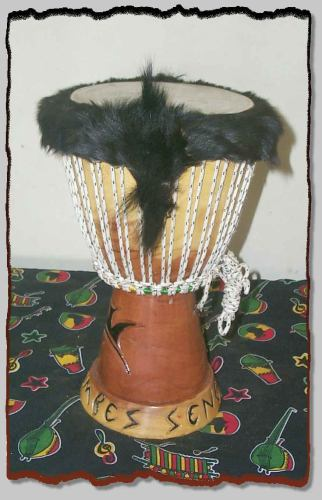 TAIL END of SenegalStyle LOGO DJEMBE! $85