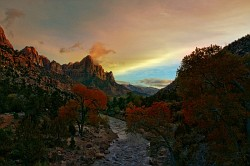 November evening in Zion