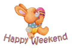 Happy Weekend - EasterBunnyWithEgg2016
