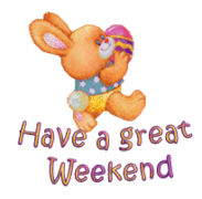 Have a great WE - EasterBunnyWithEgg2016