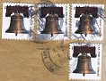 USA 2008 Forever stamps x4