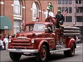 An old fire engine is part of the show