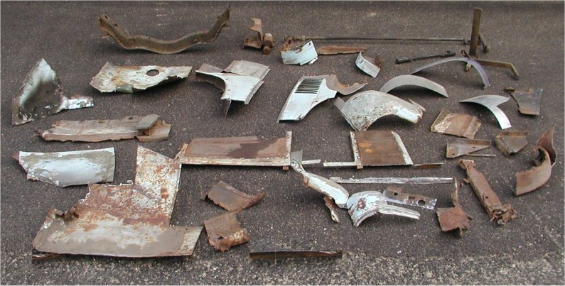 Parts-pieces, removed