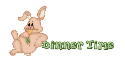 Dinner Time - BunnyWithCarrot