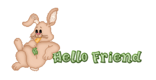 Hello Friend - BunnyWithCarrot