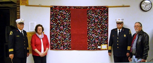 2015-6-01 WINDSOR LOCKS HERITAGE WEEK - FIREFIGHTERS QUILT - PRESENTATION - 02