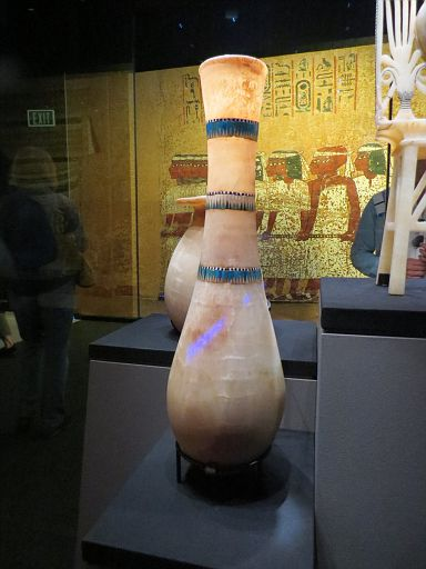 Calcite Tall Vase Inlaid w Faience