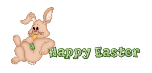 Happy Easter - BunnyWithCarrot