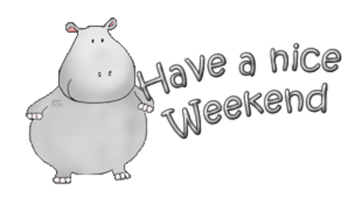 Have a nice Weekend - CuteHippo2018