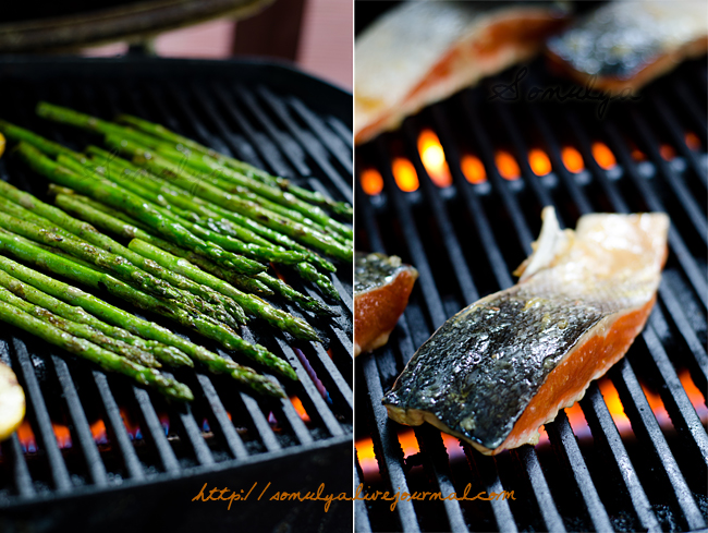 asparagus & fish on the grill