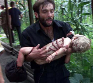MUSLIM massacre of Russian children at Beslan