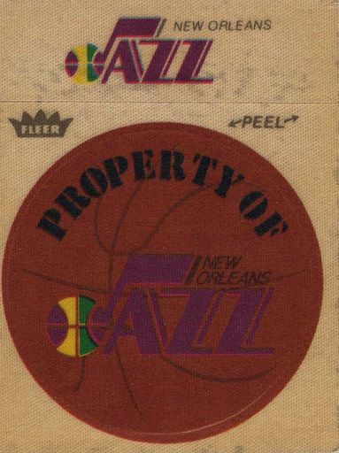 1974-75 Fleer Cloth Stickers New Orleans Jazz (1)