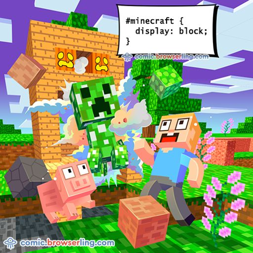 Minecraft - Weekly comic about web developers, software and browsers