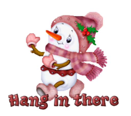Hang in there - CuteSnowman