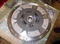 Clutch disc on steel flywheel