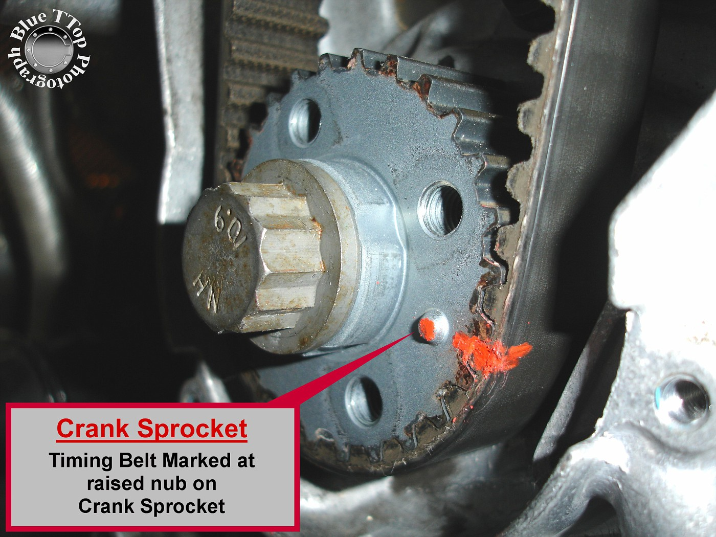 Work the Timing Belt off the Water Pump and Crank Sprocket by alternating  pulls at each location.