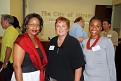 Edna La Roche Marketing Manager Miramar Cultural Center/ Miramar Mayor Lori C. Moseley,Camasha Cevieux, Program & Communication Manager Miramar Cultural Center.
