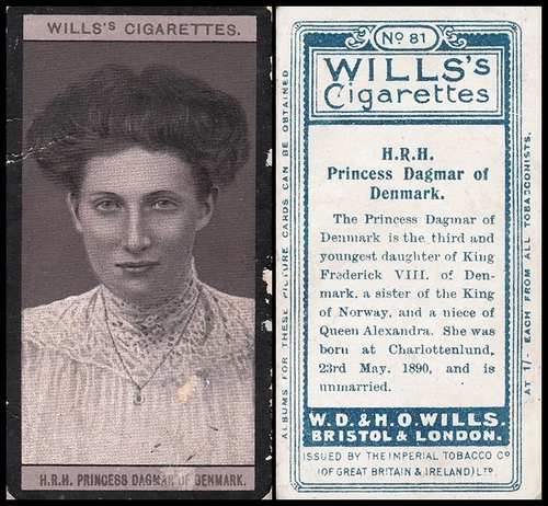 1908 Wills European Royalty #081