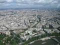Paris View from atop the Eiffel Tower.