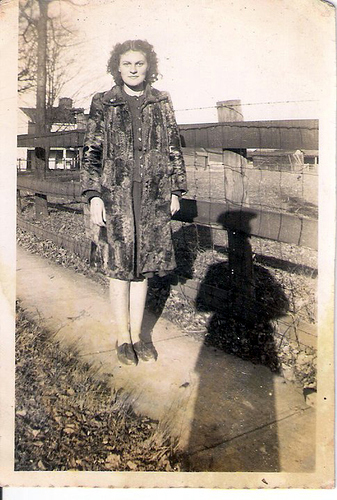 16-Mamaw Aree and Papaw Moffett's shadow in uniform