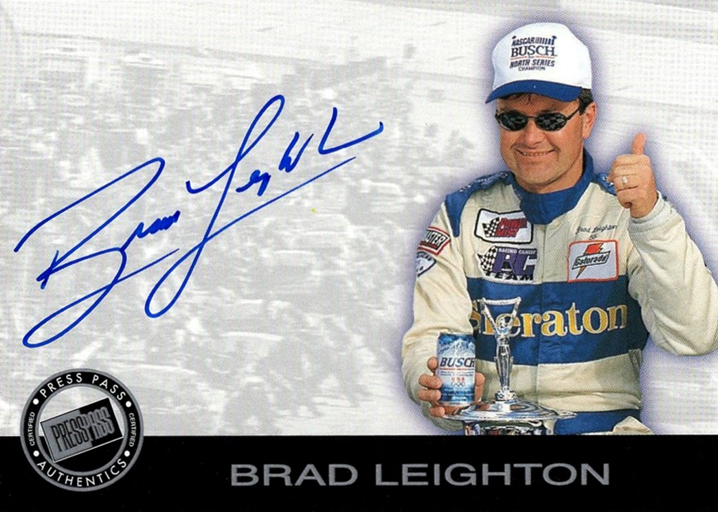 2001 Press Pass Signatures Brad Leighton (1)