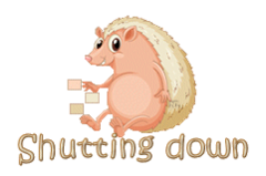 Shutting down - CutePorcupine