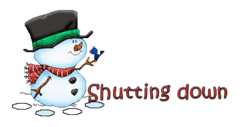 Shutting down - Snowman&Bird