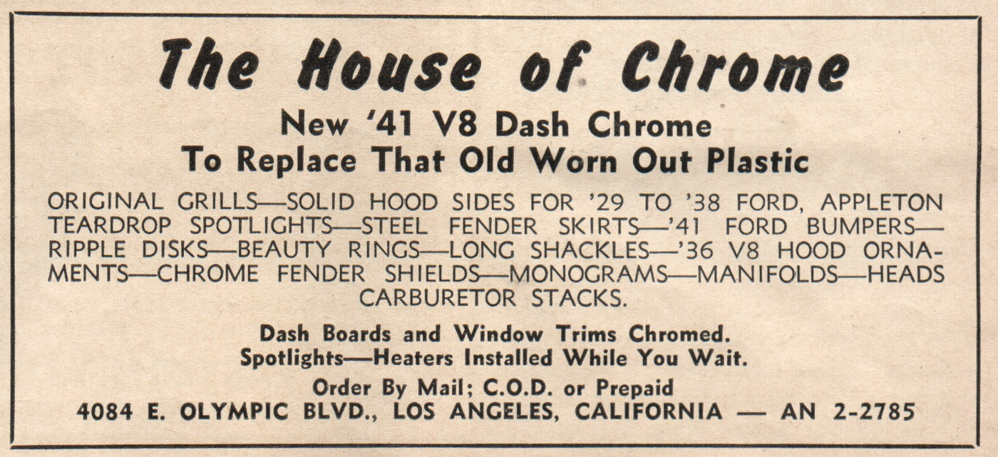 House-of-Chrome-Hot Rod-Feb-49-Ad