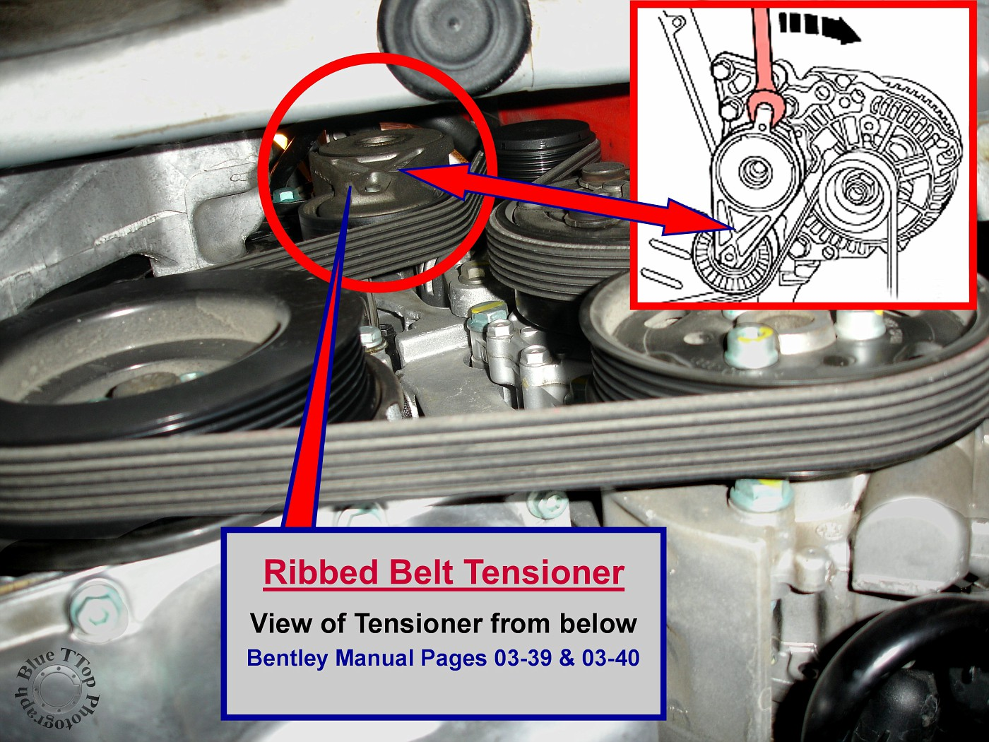 The Tensioner can be seen from