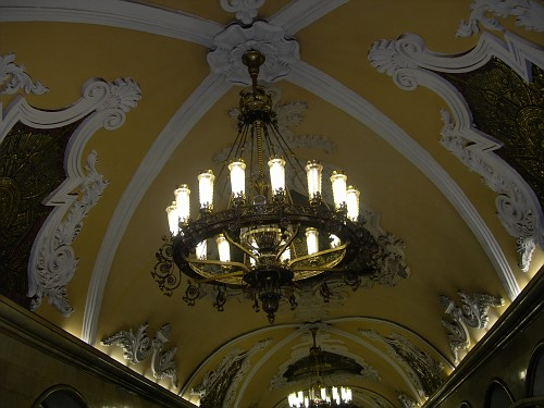 Moscow Metro - Another chandelier
