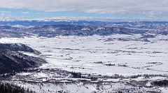 View down to Yampa River valley from the picnic area