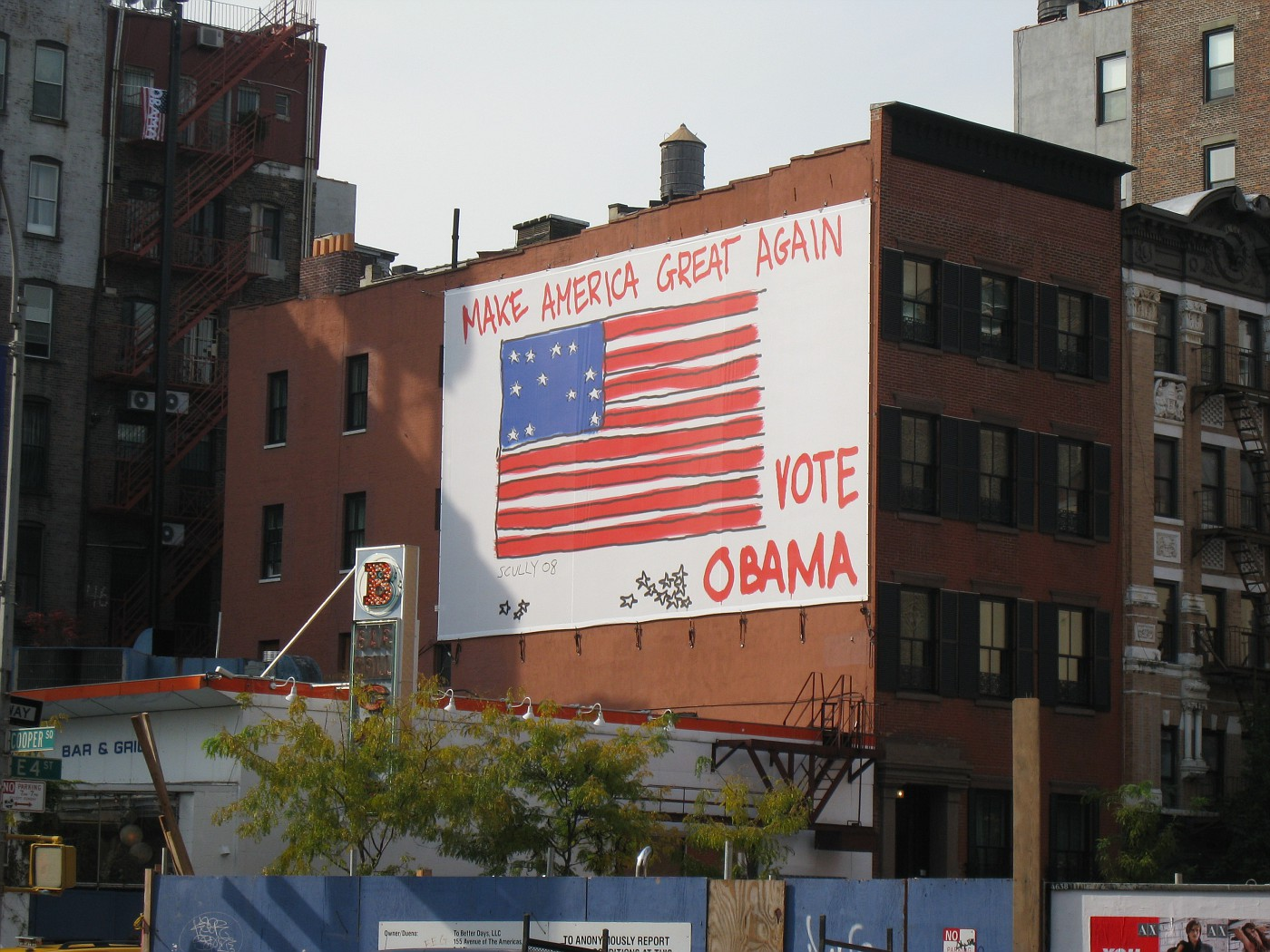 Billboard in the East Village
