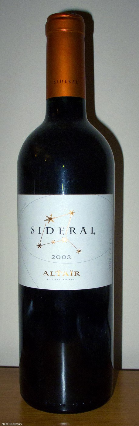 Altaïr Vineyards & Winery Sideral 2002 001