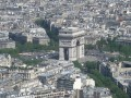 Arc de Triomphe as seen from the top of the Eiffel Tower.