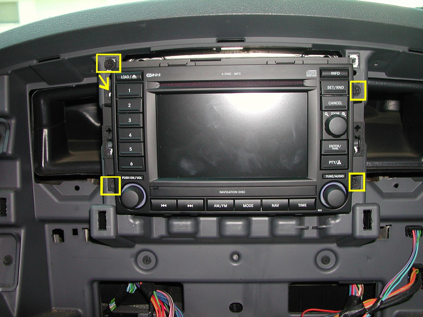 Then reconnect all your dash control wires and push the new radio dash bezel into place