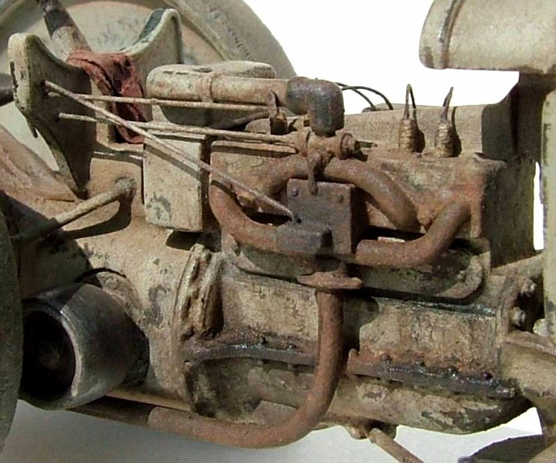 Close-up of engine