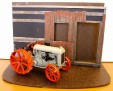 Mock-up diorama and tractor.