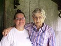 L TO R MY WIFE NANCY  & MY SISTER N LAW  EVELYN CRABTREE