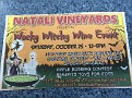 "After you are finished at the Harvest Fest in CMCH / stop on over to Natali Vineyards ""Wacky Witchy Wine Event""!!!  Noon to 5:00."