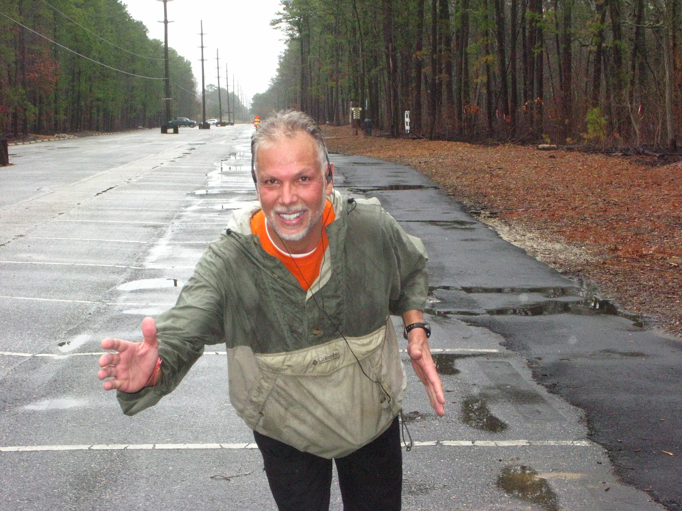 Running Solo in the Rain at the Park 3-29-09