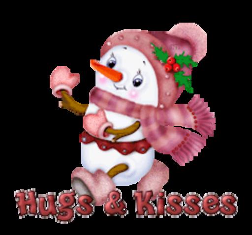 Hugs & Kisses - CuteSnowman