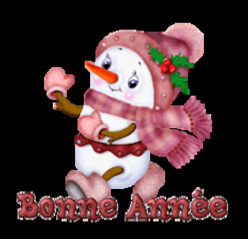 Bonne Annee - CuteSnowman
