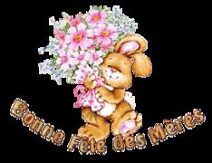 Bonne Fete des Meres - BunnyWithFlowers