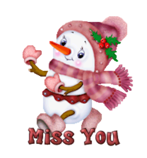 Miss You - CuteSnowman