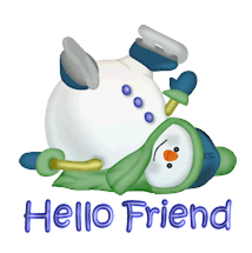 Hello Friend - CuteSnowman1318