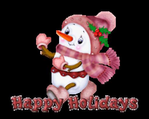 Happy Holidays - CuteSnowman