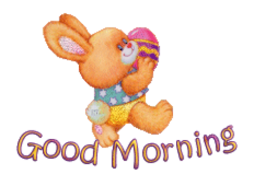 Good Morning - EasterBunnyWithEgg16