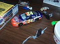 My Jeff Gordon car which is almost done...I didn't have anything finished with me because I was in Lake George and came right to the meeting, without even going home!