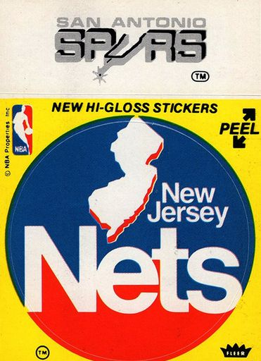 1977-78 Fleer NBA Logo Stickers Spurs-Nets (1)